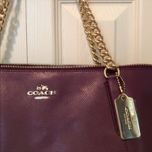 Coach Bags - Cherry Shimmer Coach Shoulder Bag